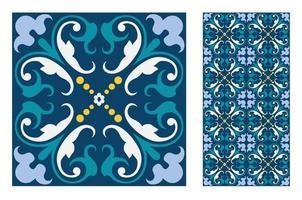 padrões de azulejos vintage antigos sem costura vetor