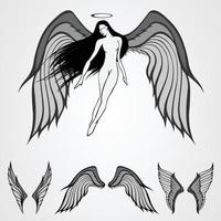 asa de anjos vetor
