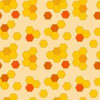 vetor favo de mel laranja padrão contínuo