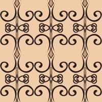 padrão de redemoinho sem costura em um estilo simples. ornamento de onda infinita de vetor