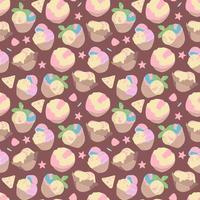padrão de verão sem costura vetor, sobremesas doces, sorvete. perfeito para papel de parede, design de superfície, têxtil, impressão. vetor