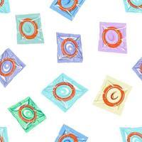 padrão sem emenda de preservativos. ilustração vetorial vetor