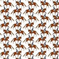 andar a cavalo sem costura padrão mulher montando um cavalo vetor