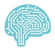 ilustração vetorial de conceito de inteligência artificial isolada em um fundo branco vetor
