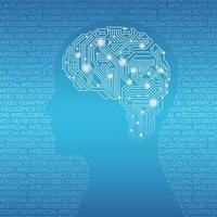 ilustração do conceito de vetor de inteligência artificial