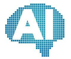 ilustração de símbolo vetorial de inteligência artificial isolada em um fundo branco vetor