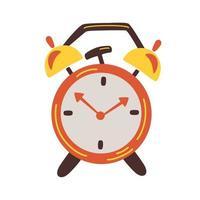 ilustração retro despertador vermelho vetor