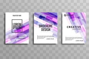 Conjunto de brochura de negócios colorido abstrato