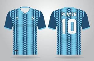 modelo de camisa esportiva azul para uniformes de time e design de camisetas de futebol vetor