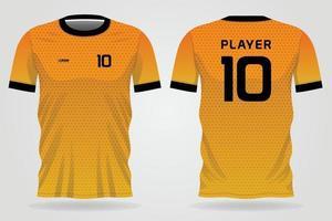 camisa esportiva temporange atrasado para uniformes da equipe e design de camisetas de futebol vetor