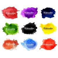 fundo aquarela colorido moderno vetor