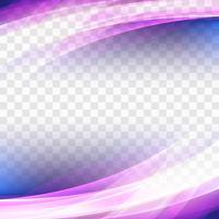 Fundo de onda transparente colorido abstrato negócios vetor