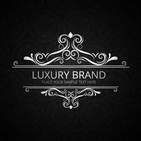 Design de marca de luxo vintage brilhante abstrato vetor
