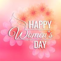 Fundo de cartão de dia das mulheres bonitas vetor
