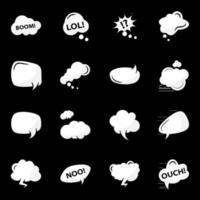 elementos de bolhas de sonho vetor