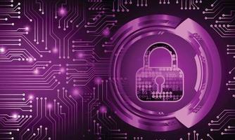 cadeado fechado em cibersegurança digital de fundo vetor