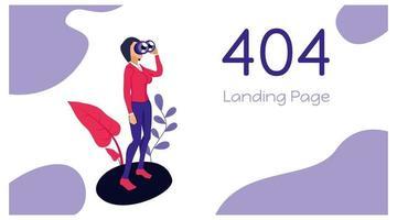 modelo de página de destino número 404 vetor