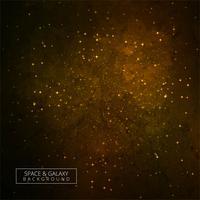 Galáxia dourada fundo espaço nebulosa vector design
