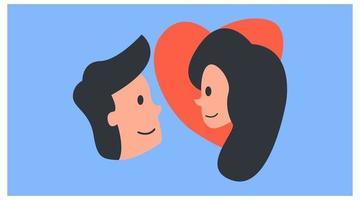 ícone romântico de duas almas gêmeas vetor