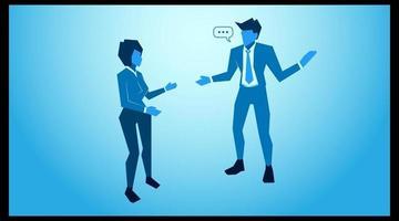 ilustração de empreendedorismo de comunicação verbal vetor