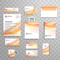 Modelo de papelaria de negócios clássico identidade corporativa abstrata vetor