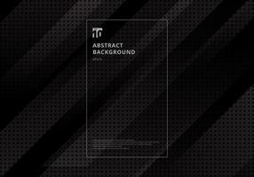 tecnologia abstrata diagonal geométrica com quadrados padrão textura fundo preto vetor