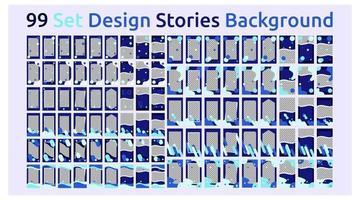 99 histórias de multimídia de gráficos de modelo vetor