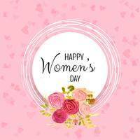 Dia internacional da mulher feliz - 8 de Março de fundo de férias vetor