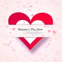 Valentine Day Gift Card Fundo de forma de coração de amor de férias vetor
