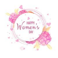 Fundo de celebração do dia da mulher feliz
