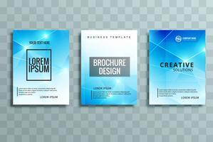 conjunto de brochura de negócios modernos