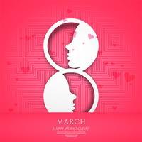 Cartaz do dia internacional da mulher. Vetor de origami de 8 números