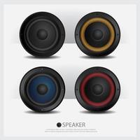 conjunto de ilustração vetorial isolado de alto-falantes vetor