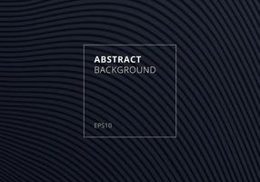 abstrato listrado onda padrão de linhas curvas em fundo preto e textura. vetor