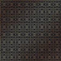 estilo art deco abstrato ouro padrão geométrico em fundo preto. vetor