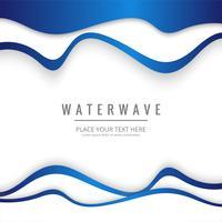 Fundo de onda de água moderna vetor