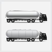 conjunto de ilustração vetorial de transporte de caminhões de carga vetor