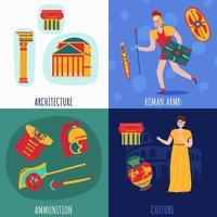 ilustração em vetor conceito de design de Roma antiga