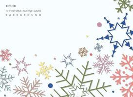 Resumo de fundo colorido do teste padrão dos flocos de neve do Natal. vetor