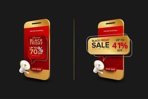 modelo de banner de oferta especial de compras online vetor