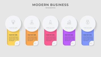 infográfico de negócios modernos criativos vetor