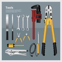 conjunto de ilustração vetorial de coleção de ferramentas vetor
