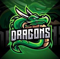 mascote esportivo dragão vetor