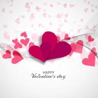 Dia dos namorados modernos corações fundo decorativo vetor