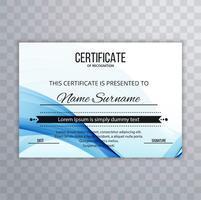 Certificado abstrato modelo Premium prêmios diploma criativo wa vetor