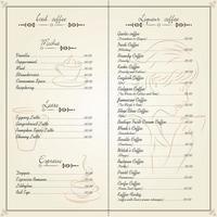 design de cartão de cardápio de restaurante de comida vetor