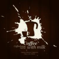 café e leite vetor
