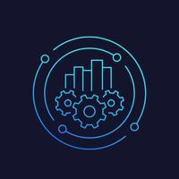 ícone de linha de vetor de análise de negócios