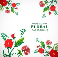 Modelo de cartão floral aquarela para design de convites de casamento