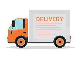 objeto de vetor de cor plana de caminhão de entrega